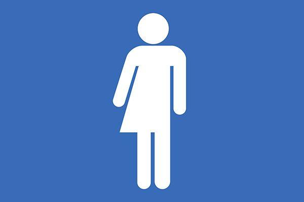 Vector Unisex Bathroom Symbol