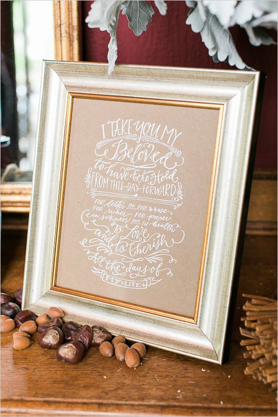 lovely wedding sign