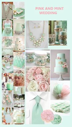 mint green peach, gold, and ivory weddings - Google Search