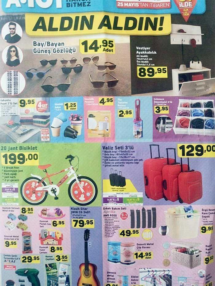 A101 marketlerde aktüel ürün kampanyaları25 Mayıs - 1 Haziran 2017 tarihleri arasında satılacak fırsat ürünleri ile devam ediyor. A101'de bu hafta Perşembe günü satılacak tüm ürünleri aşağıdaki a101 kataloglarında inceleyebilirsiniz. Aldın aldın kataloğunda raflı dolap 150 TL, su ısıtıcı 50 TL, vivaldi düdüklü tencere 55 TL fiyatla satılacak. Bu düdüklü tencereyi tavsiye etmiyoruz. Böyle ucuz tencerelerden hem güvenlik hem de dayanıklılık açısından uzak durmanızı tavsiye ederim. Vestiyer...
