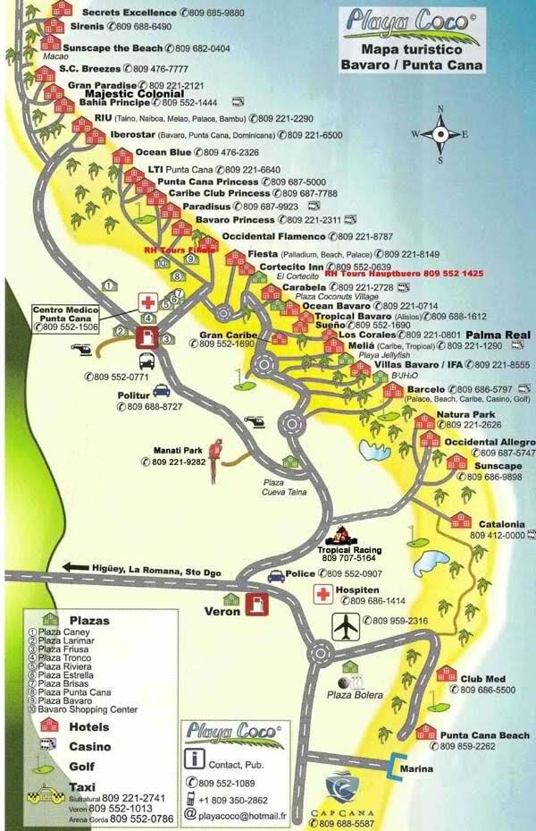 resorts punta cana map - Google Search