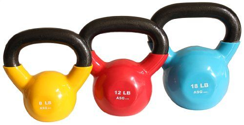 Ader Vinyl Kettlebell Set 8 12 18 Lb *** Read more reviews of the product by visiting the link on the image.