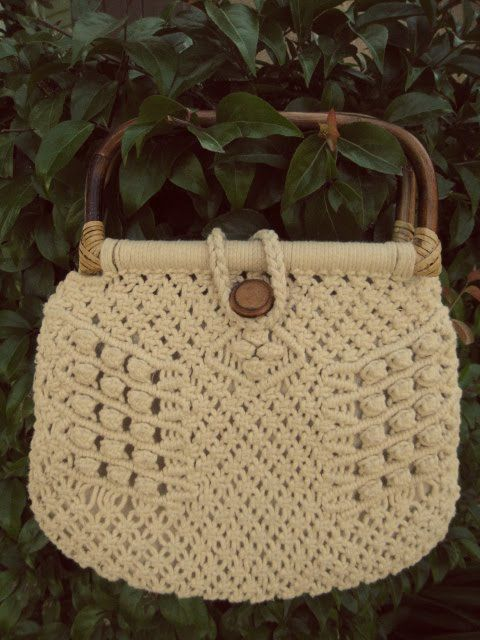 Macrame Patterns | Here is my new macrame purse I bought yesterday! I think I'm going to ...