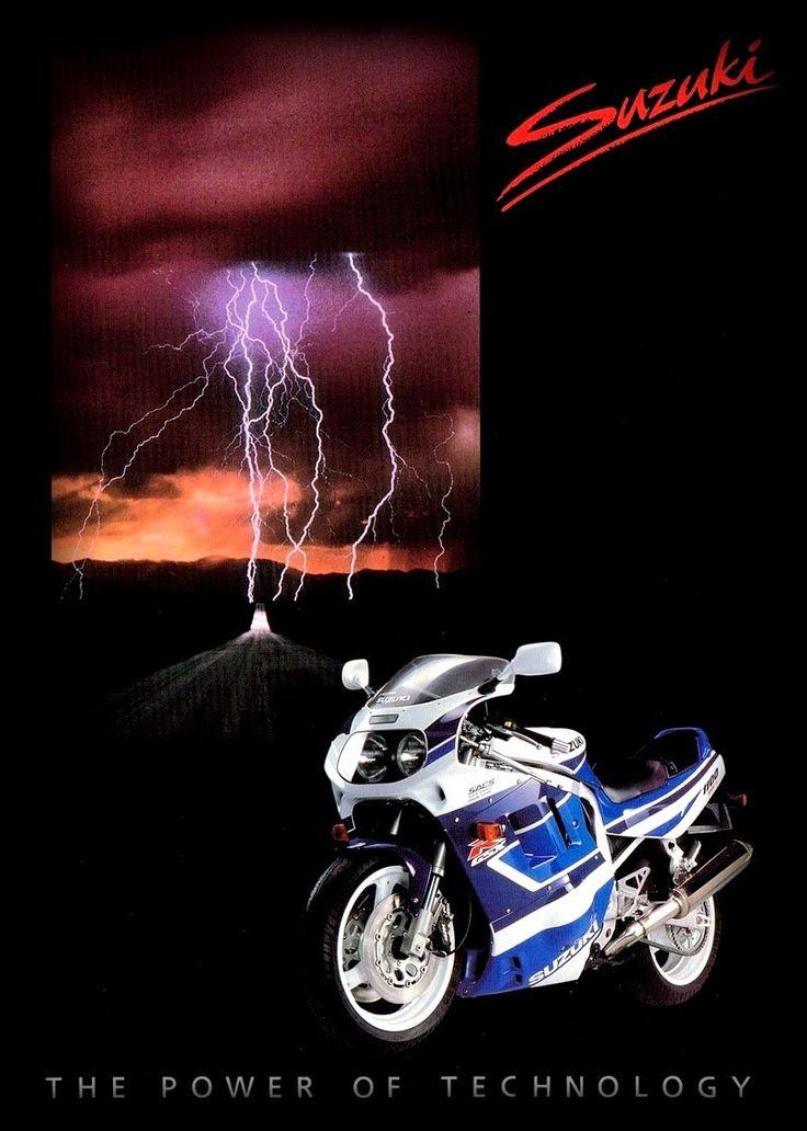 Pub Suzuki : GSXR 1100 1991. The Power of technology.