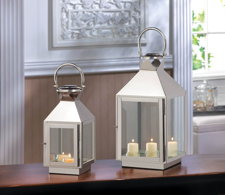 Dapper Stainless Seel Lantern · Large Candle ...