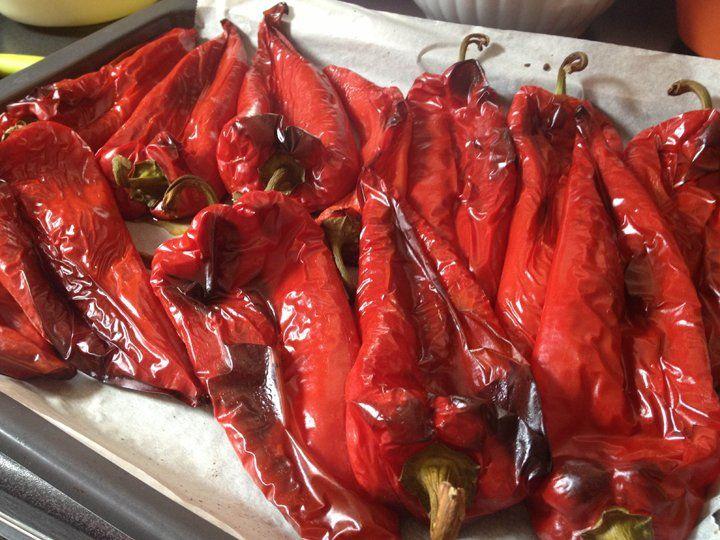Sült paprikák