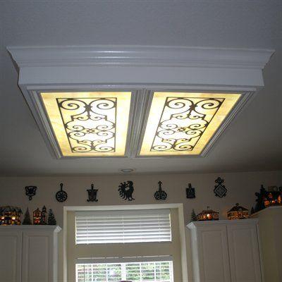 Fluorescent light diffuser  - ironwork