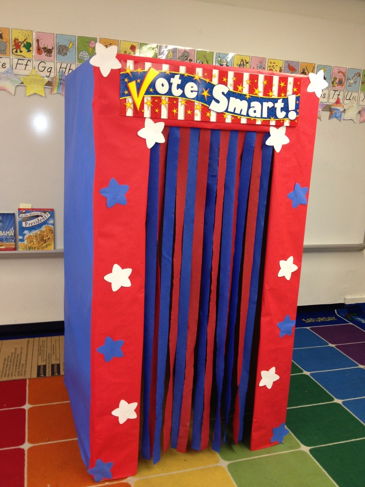 Classroom Voting Ideas ~ Voting booth classroom ideas pinterest