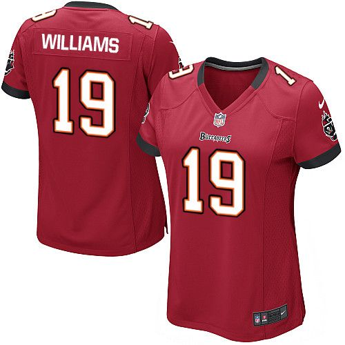 Women Nike Tampa Bay Buccaneers #19 Mike Williams Limited Red Team Color NFL Jersey Sale