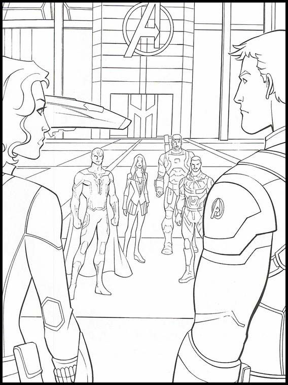 Avengers: Endgame 27 Printable coloring pages for kids ...