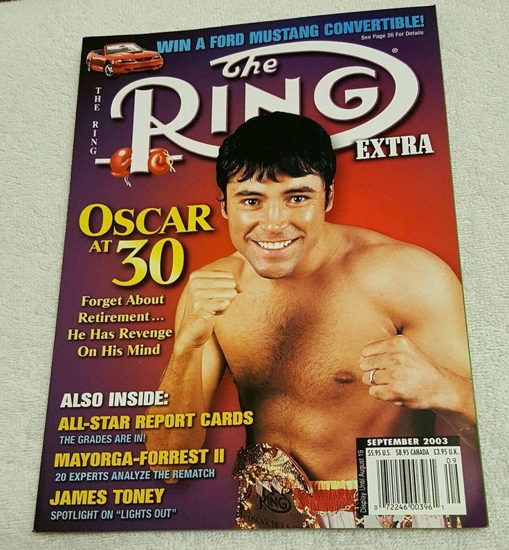OSCAR DE LA HOYA RING Extra Boxing Magazine 2003 James Toney BARNEY ROSS