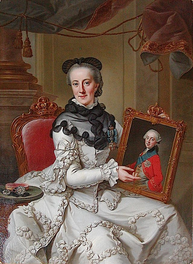1766-1767 Juliane Marie of Denmark by Johann Georg Ziesenis