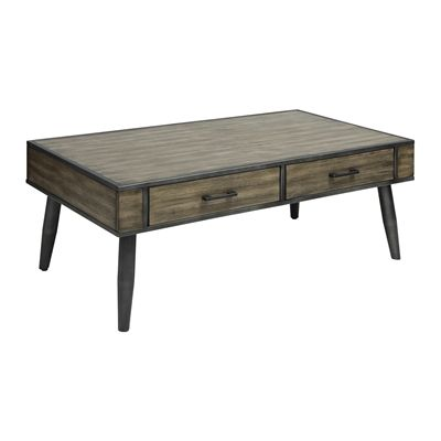 Worldwide Home Furnishings 301-302GY !nspire Edinburgh Coffee Table