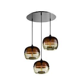 """Circular 3 Modern Chandelier - Clear rectangular $798 18"""" Diameter"""