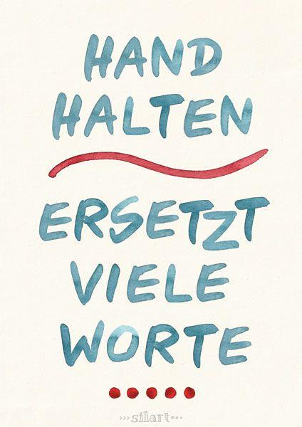 Hand halten, Lettering Card, Quote Art, Word Art, Statements, Zitate, Sprüche, Karten