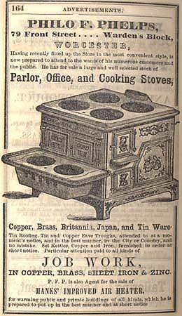 victorian stove advertisements | STOVE AD 1850.