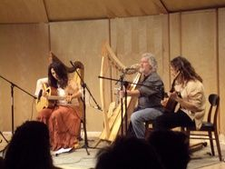 Chris Caswell made my first harp, and I have great memories of him at the Oberlin Scottish Harp School. This is The New World Gypsy String Band, just one of a number of groups he has played with.