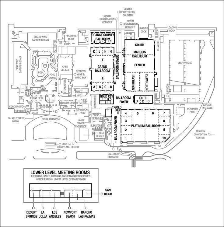 Meeting Space In Anaheim Anaheim Convention Center Hotel Floor Plans Work Stuff Pinterest