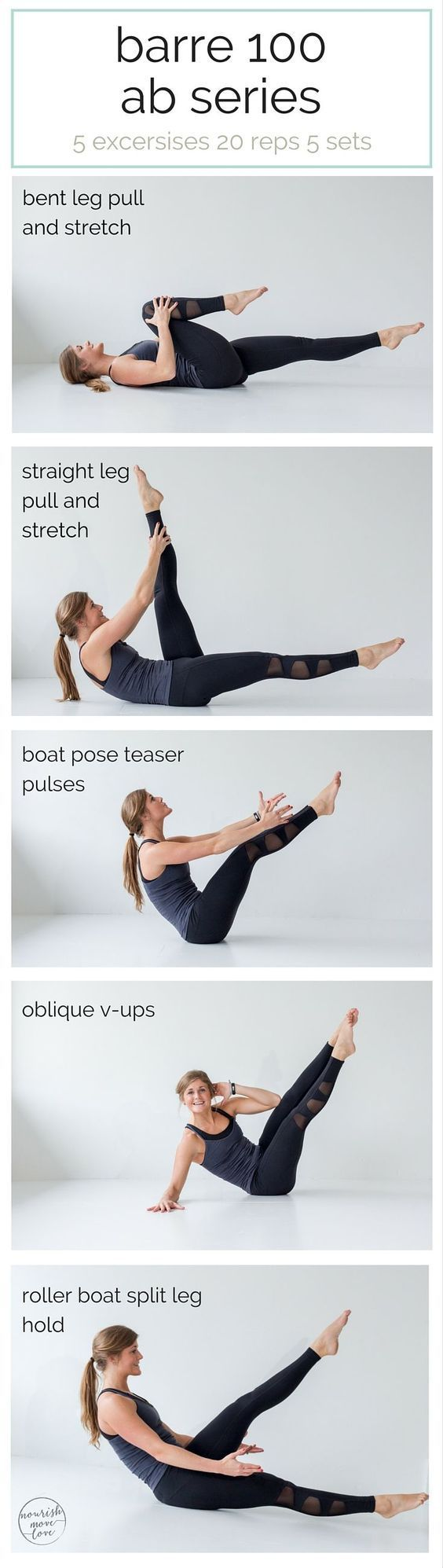 Barre 100 Ab Series. Perfect at-home workout!