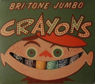 Funny vintage box of crayons.
