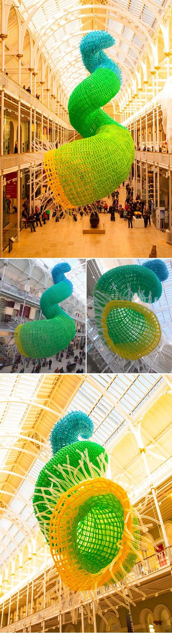 Massive New Balloon Sculpture at Edinburgh International Science Festival ( by Jason Hackenwerth )
