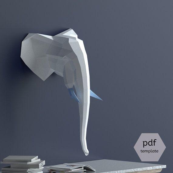 17 mejores ideas sobre cabeza de elefante en pinterest - Cabezas de animales decoracion ...