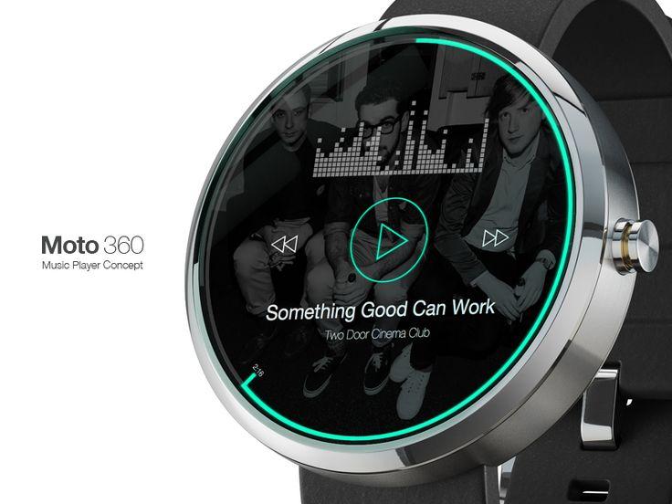 Moto 360 Music Player • Rebound