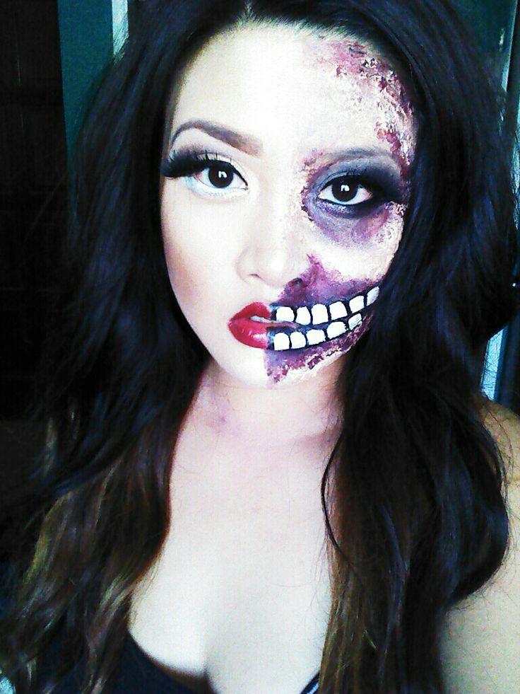 DIY zombie makeup. #teamdaryl