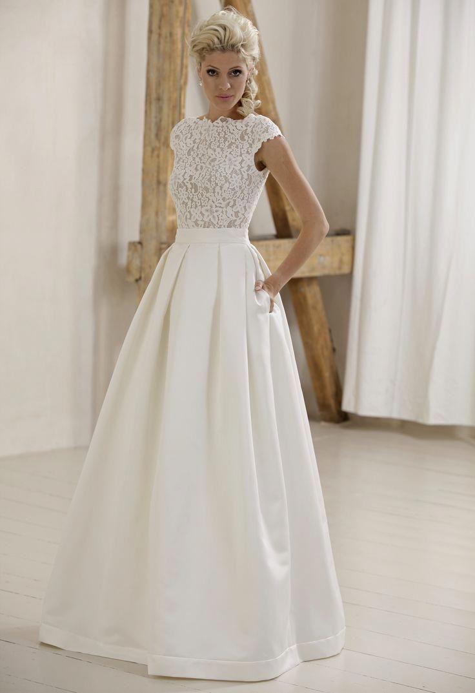 model marta with satin skirt (735) #hochzeitskleider #marta