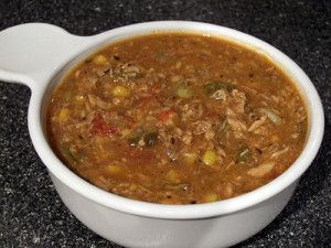Conch chowder recipe image for Florida Keys Recipes. large diced tomatoes 1 medium diced onion 6 small minced green onions 2 cloves of fresh minced garlic 2 stalks diced celery 2 large diced carrots 1 chopped red bell pepper 1 medium diced potato 6-8 sprigs of chopped parsley 4 sprigs fresh tyme 1/4-1/2 teaspoon of ground allspice 3 bay leaves 1 (16-ounce) can clam juice 2 T. fresh lemon juice (or to flavor) 2 cups cold water 1 pound cleaned and chopped conch meat 3 slices of crisp bacon 1/4…