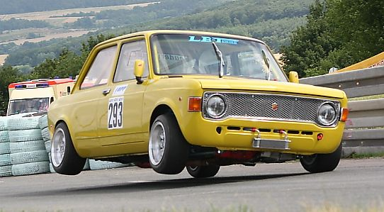 Fiat 128 Coupe in flight