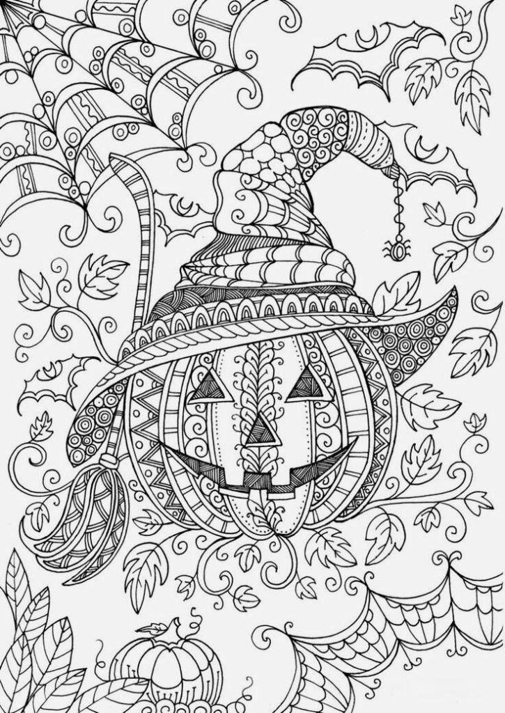 75 Halloween Coloring Pages Free Printables Halloween Coloring Pages Halloween Coloring Cartoon Coloring Pages
