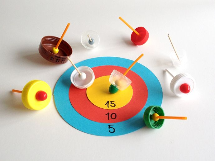 DIY: Recycled Spinning Top Game Boards