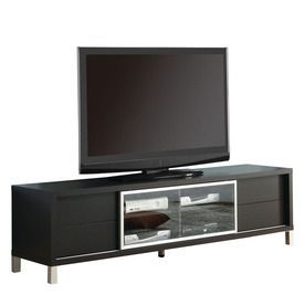 Monarch Specialties Cappuccino Rectangular Television Cabinet I 2530