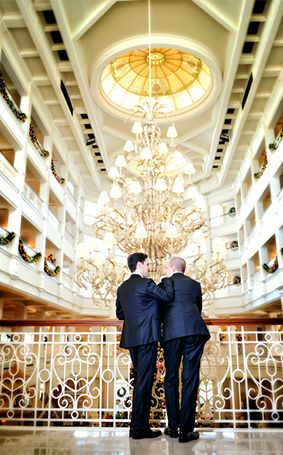Favorite photo spot: in front of the chandelier at Disney's Grand Floridian Resort & Spa!