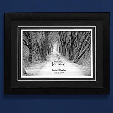 Joy is in the Journey Wedding Framed Print - 14 x 18 - Date