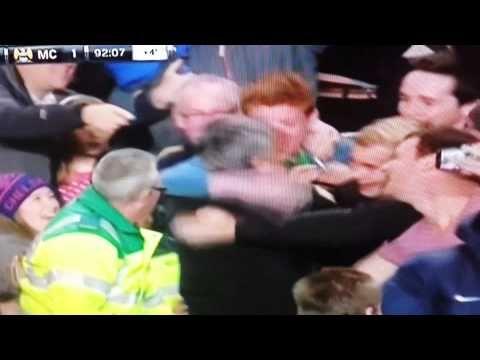 Chelsea fan kisses Jose Mourinho. MCFC vs CFC