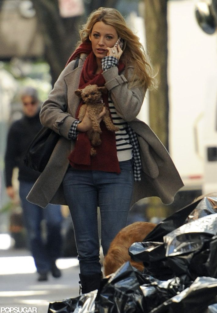 Blake.... Love her outfit and whatever dog she has in her hand, I want it!