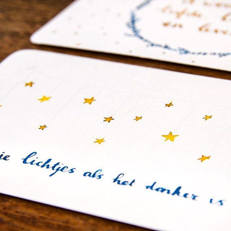 #ninamaakt postcard christmas 'ik wens je lichtjes als het donker is' www.ninamaakt.etsy.com