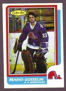 1986 87 OPC O Pee Chee Hockey Mario Gosselin 235 Quebec Nordiques ...