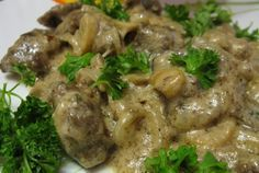 Печень говяжья, тушенная в сметане - пошаговый кулинарный рецепт с фото на Повар.ру