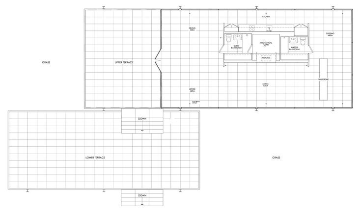 Farnsworth house by mies van der rohe in plano illinois for Farnsworth house floor plan