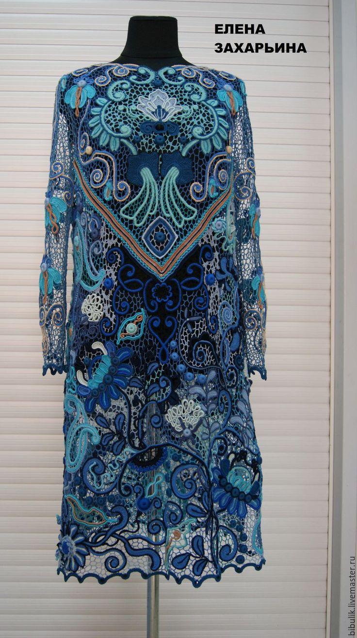 """Купить Платье """" Эдельвейс """" - комбинированный, цветочный, ирландское кружево, авторская работа"""