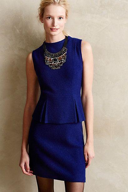 So wearable Savoy Boiled Wool Peplum Dress - anthropologie.com