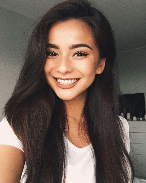 Long glossy hair