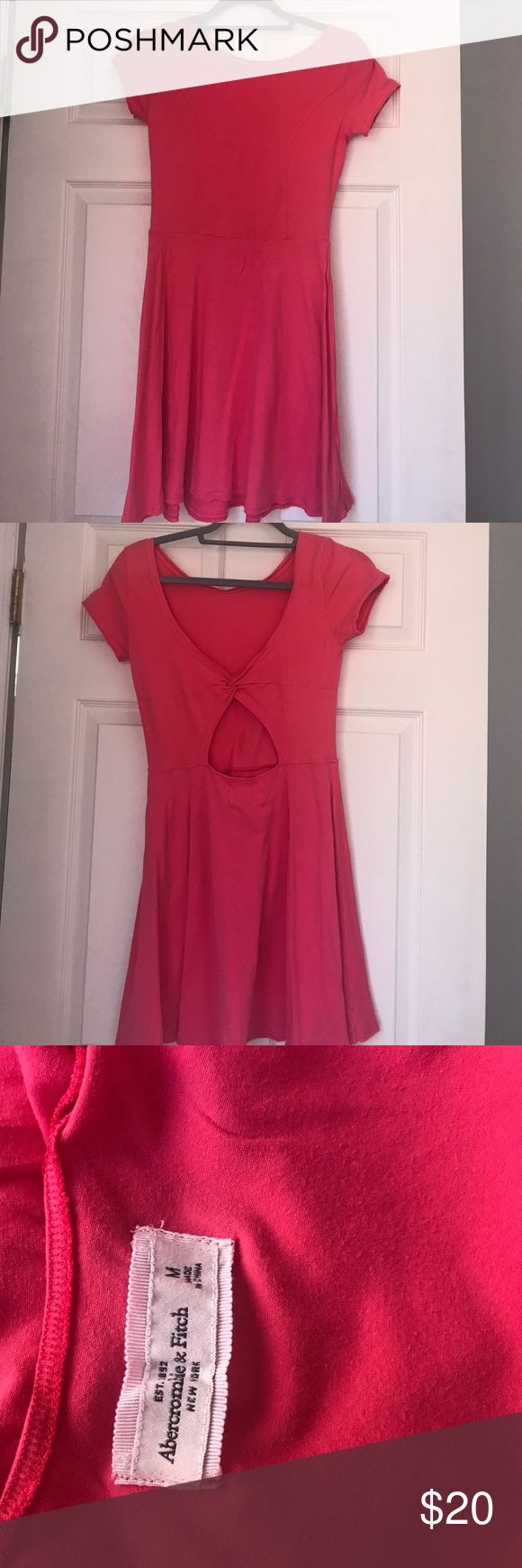 abercrombie hot pink dress abercrombie & fitch hot pink t shirt sit & flare dress Abercrombie & Fitch Dresses Strapless