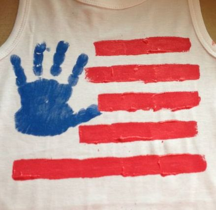 Handprint Flag [4th of July Craft for Kids]