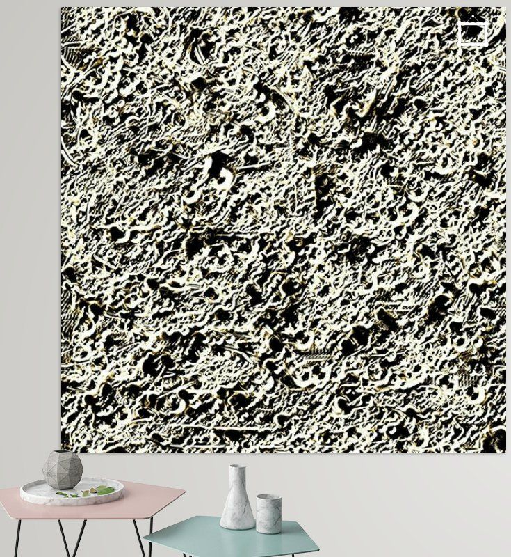 Abstract Relief Pattern In Black And White