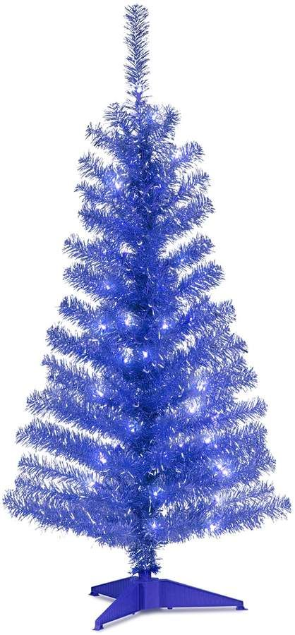 National Tree Company 4 Ft Pre Lit Tinsel Artificial Christmas Floor Decor