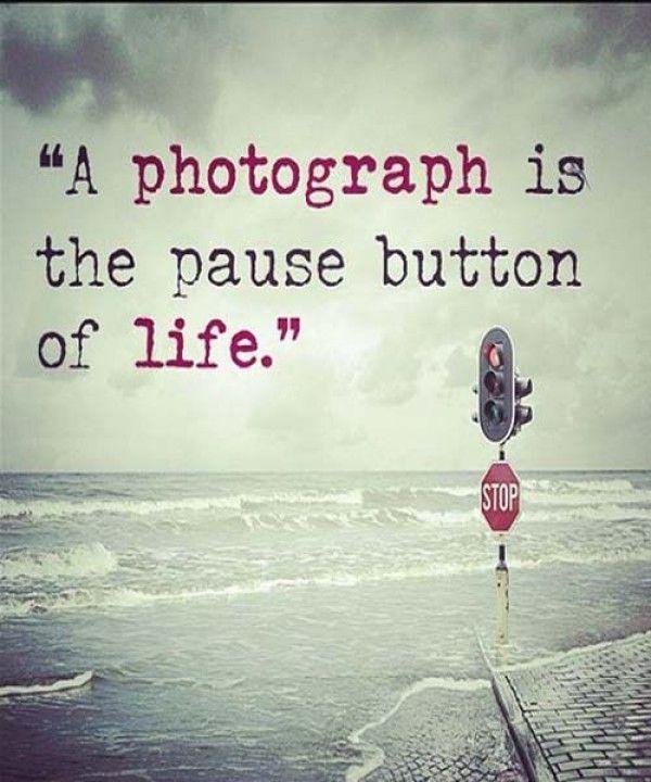 Portrait A Photograph Is The Pause Button Sticker